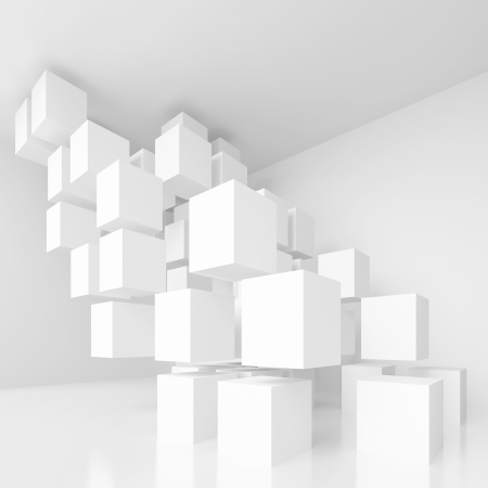 3d White Abstract Architecture Background 写真素材