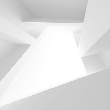3d White Abstract Architecture Background 스톡 콘텐츠