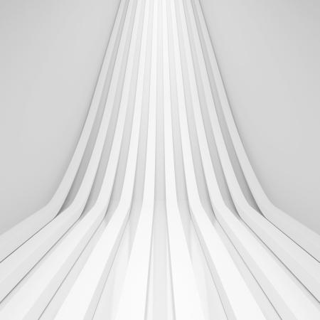 3d White Abstract Architecture Background Standard-Bild