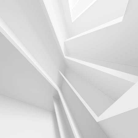 3d White Abstract Architectuur Design