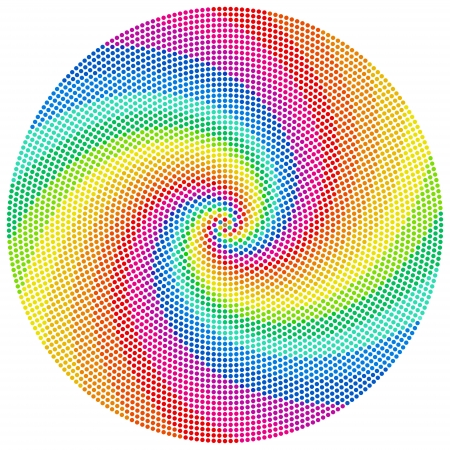 color spectrum: Vector Abstract Color Wheel Pattern