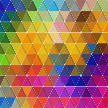 Vector Abstract Colorful Triangles Pattern  Ilustração