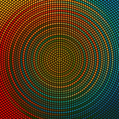 Vector Abstract Colorful Circle Pattern