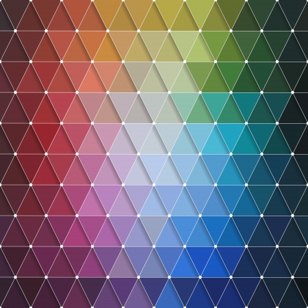 Vector Abstract Colorful Triangles Pattern Stock Vector - 25041325