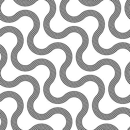 Vector Abstract Seamless Monochrome Pattern