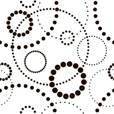 Vector Seamless Monochrome Circle Pattern Illustration
