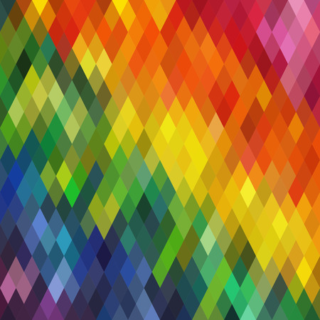 Vector Seamless Colorful Rhombus Pattern  イラスト・ベクター素材