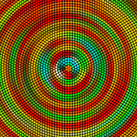 concentric: Vector Abstract Colorful Concentric Background Illustration