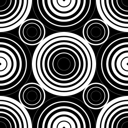 Abstract Seamless Monochrome Circles Background