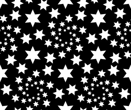 Vector Seamless Star Monochrome Pattern Vector