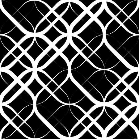 Vector Seamless Monochrome Geometric Design