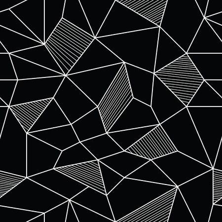 cubismo: Ilustración vectorial de Abstract Seamless Pattern