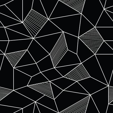 Vector Illustratie van abstracte Naadloze Patroon Stock Illustratie