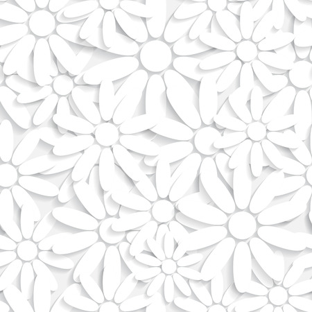 Vector Abstract Seamless Flowers Pattern Vector