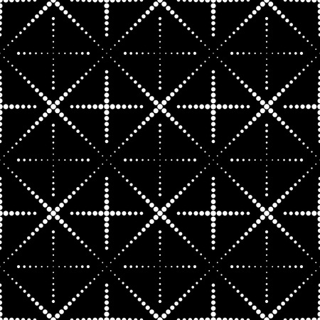 Vector Seamless Monochrome Geometric Background