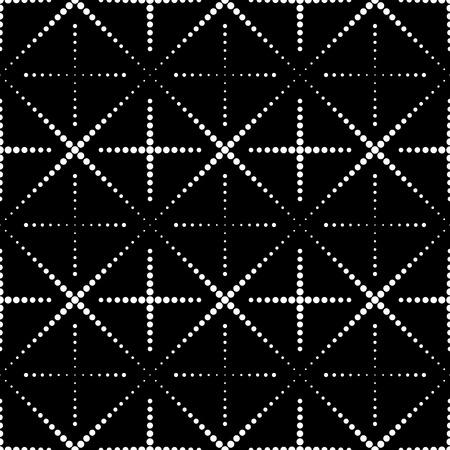 Vector Seamless Monochrome Geometric Background