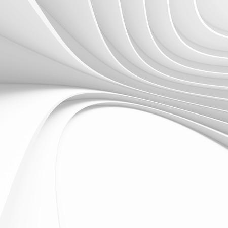 3d White Modern Building Concept Archivio Fotografico