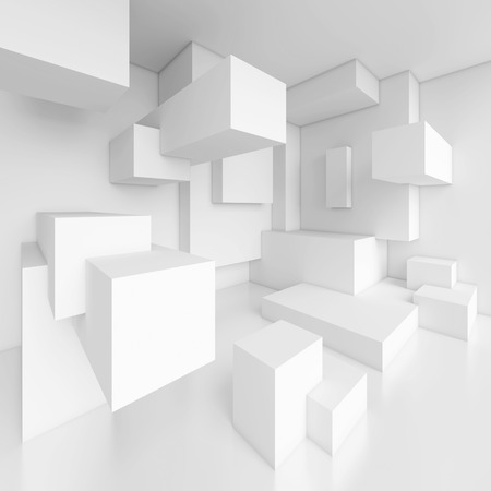 3d White Modern Interior Background