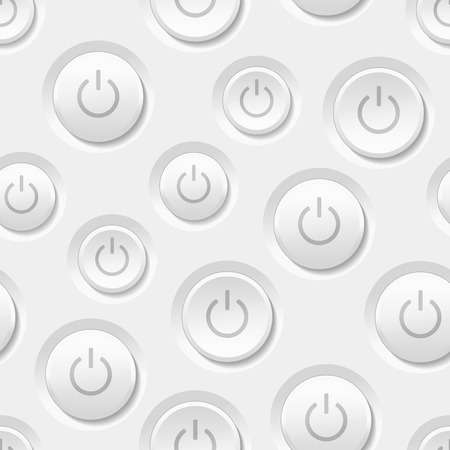 Vector Power Button Seamless Background Vector