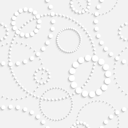 Vector Seamless Monochrome Circle Background