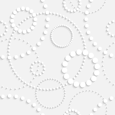 Vector Seamless Monochrome Circle Background Vector