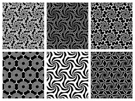 Vector Seamless Monochrome Snowflakes Pattern Vector