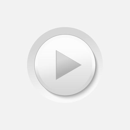 Vector White Play Media Button