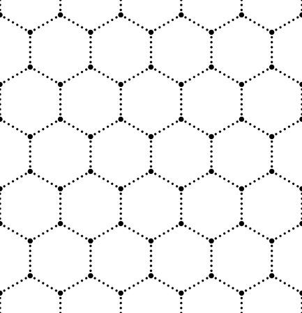 Vector Seamless Monochrome Molecular Pattern Vector