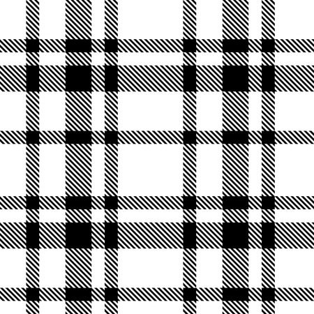 Vector Naadloze Tartan zwart-wit patroon Stock Illustratie