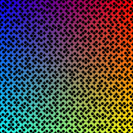 Vector Colorful Seamless Tech Pattern Vector