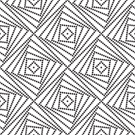lattice: Vecor Seamless Monochrome Geometric Background