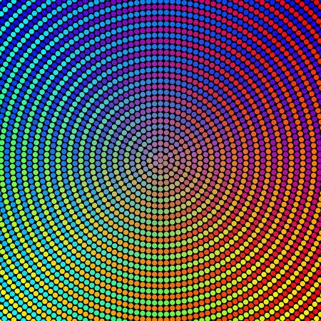 Vecteur Résumé des cercles colorés Fond