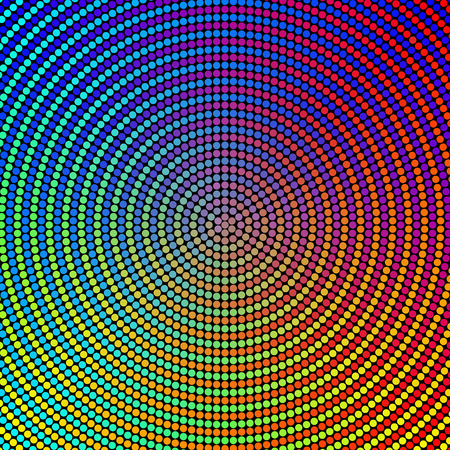 concentric: Vector Abstract Colorful Circles Background Illustration