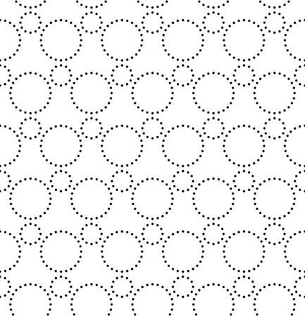 Vecor Seamless Monochrome Geometric Pattern Vettoriali