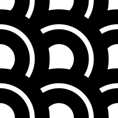 patron de circulos: Vector blanco y negro sin fisuras de los c�rculos