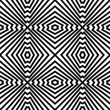 Vecor Seamless Monochrome Geometric Pattern Vector