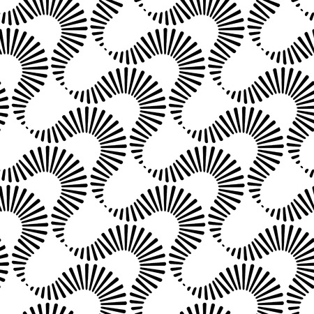 Vector Monochrome Seamless Curve Pattern Vector