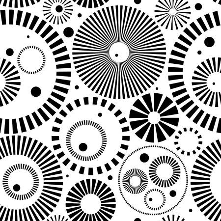 Vector Monochrome Seamless Circle Design Vector
