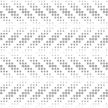 Vector Monochrome Seamless Mosaic Pattern Vector