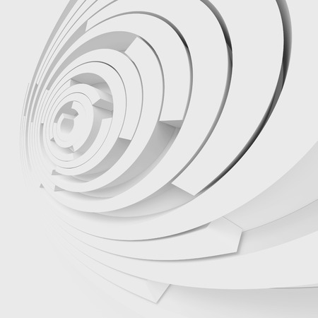 architecture design: 3d White Abstract Architecture Design