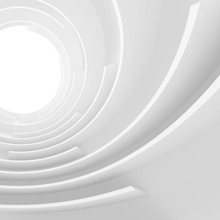 arquitectura abstracta: 3d abstracto blanco Arquitectura Concepto