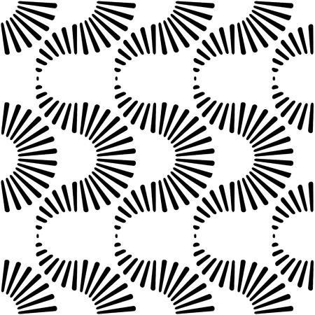 Vector Monochrome Seamless Wave Pattern Vector