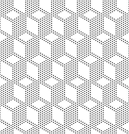 Vecor Seamless Monochrome Geometric Background Vector