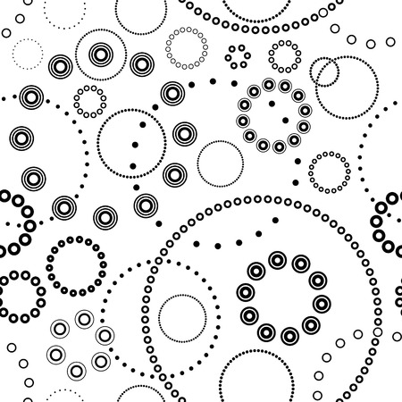 Vector Monochrome Seamless Concentric Pattern Vector