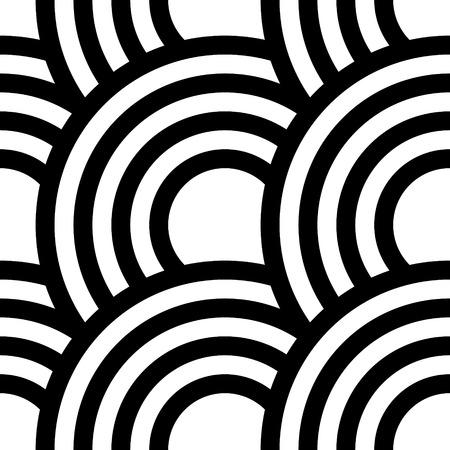 Vector Monochrome Seamless Curve Pattern Vector