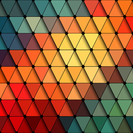 Abstract Triangle Colorful Pattern