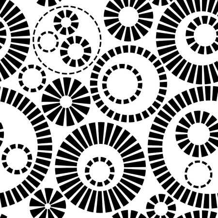 Monochrome Seamless Gears Pattern Vector
