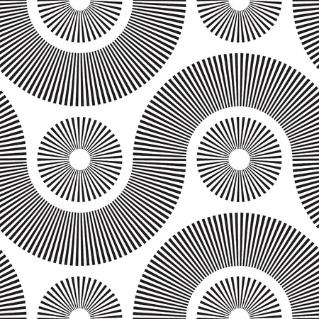 Vector Monochrome Seamless Tech Pattern Vector