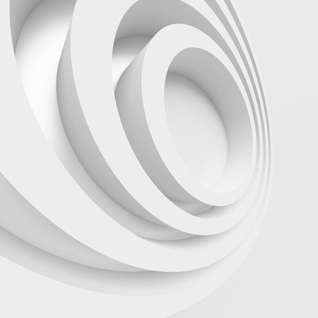3d Render of Abstract Architecture Design