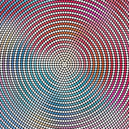 concentric: Vector Abstract Concentric Mosaic Pattern Illustration